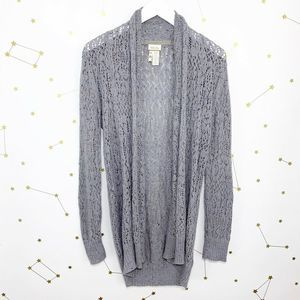 Matilda Jane • Gray Open Knit Pixie Dust Cardigan
